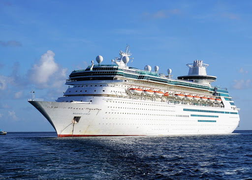 The 2,350-passenger Majesty of the Seas specializes in short fun-in-the-sun getaways to the Bahamas.