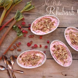 No-Bake Rhubarb Crisp.