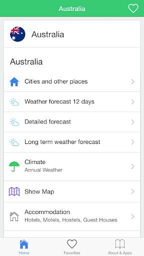 澳大利亞天氣,旅行