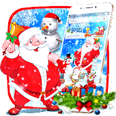 Happy Christmas Santa Theme Android APK Download Free By Fancy Theme Palace