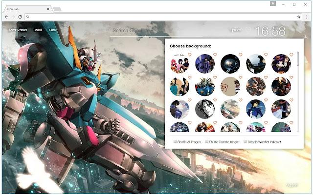Mobile Suit Gundam Wallpaper HD Custom NewTab