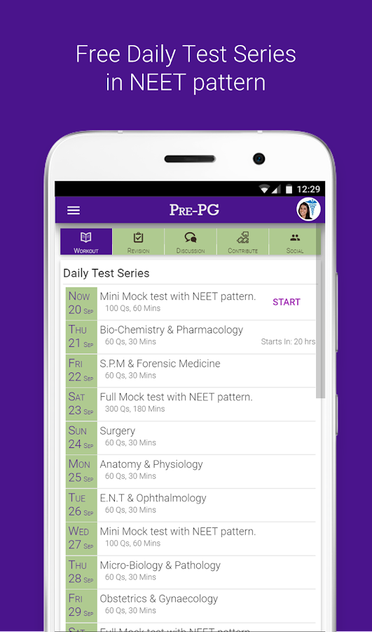 Screenshots of Pre PG Prep NEET, AIIMS - MCQs & Daily Test Series for iPhone