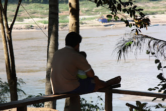 Photo: Day 265 - Father and Son, Watching the Mekong