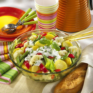 Potato and Vegetable Salad with Herb Dressing