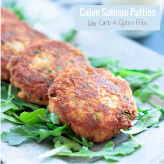 Cajun Salmon Patties - Low Carb & Gluten Free.