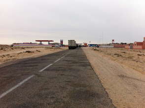 Photo: Morocco border to Mauritania