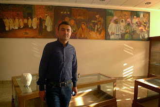 Photo: Kovan Khanki, academic, researcher, specialist on Yezidis, Yezidi Cultural Center - Lalesh, Duhok 2014