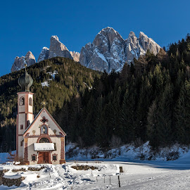 by Mario Horvat - Buildings & Architecture Places of Worship ( dolomites, mountains, snow, church, winter )