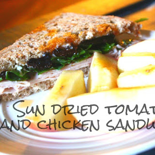 Sun Dried Tomato and Chicken Sandwich.