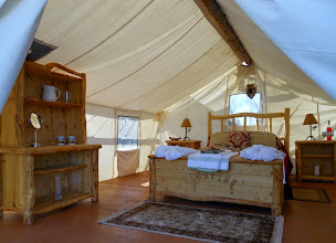 Photo: Glamping queen suite at Wawaitin Holiday Park