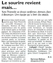 Photo: 27-11-2011 N3M Yutz-Thionville - Besançon 3-0