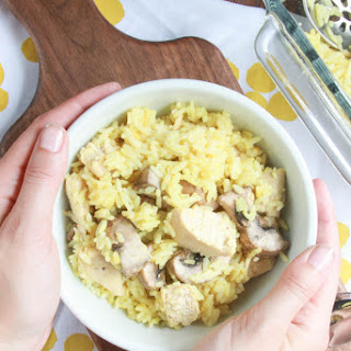 Mushroom Chicken Rice