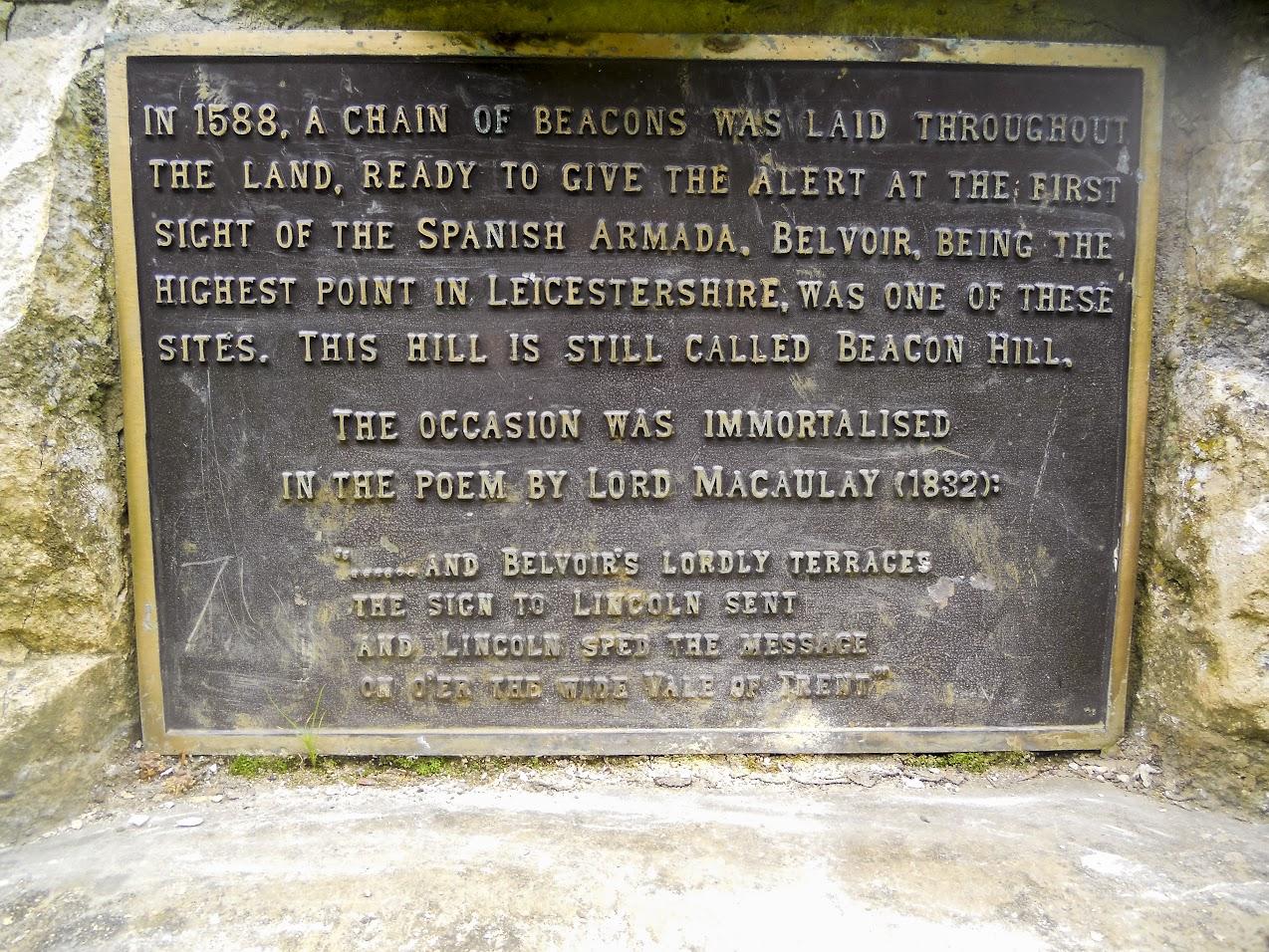 The Armada Beacon Memorial plaque