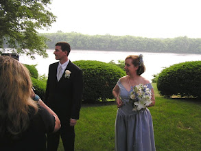 Photo: we were married at the Hartford canoe Club, on the CT River