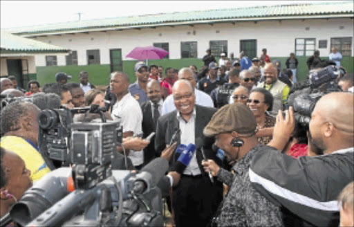 INNER STRIFE: President Jacob Zuma addresses the media after casting his vote earlier this year. The ANCYL is increasingly opposing the party for its own gain. Photo: Thembinkosi Dwayisa