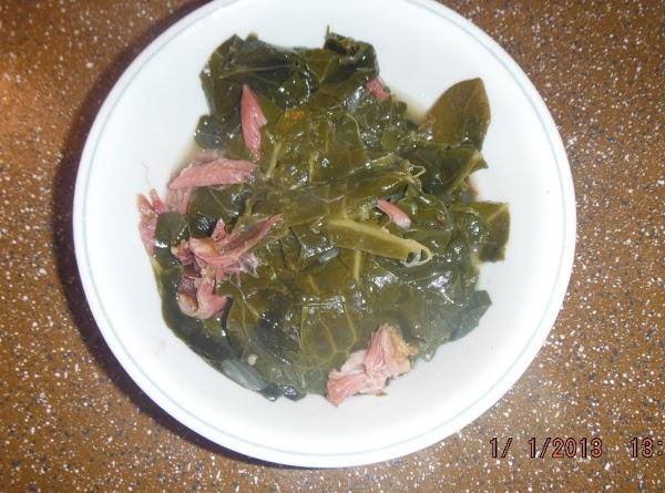 Remove bay leaves, taste greens season with seasoning salt, onion powder and ground black...