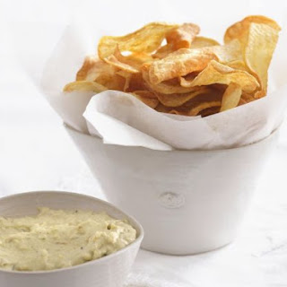 Sweet Potato Crisps with Dipping Aioli