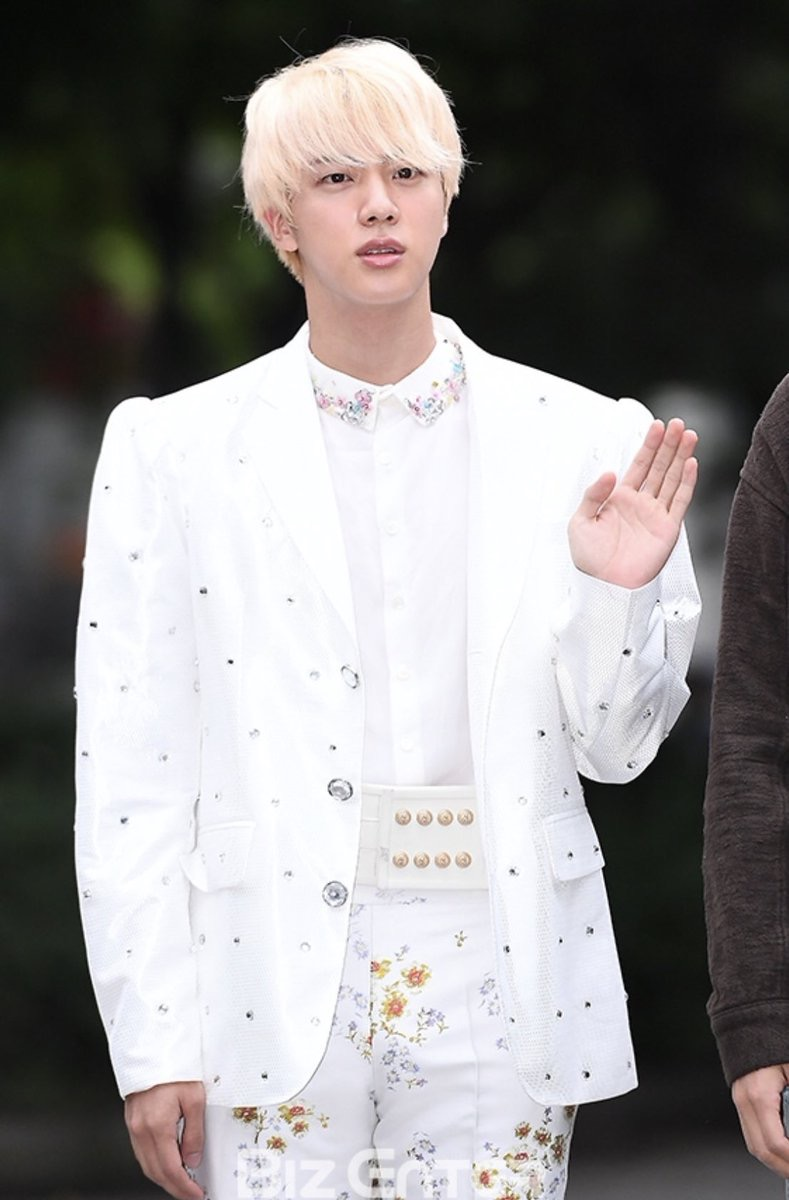 bts jin white outfit 2