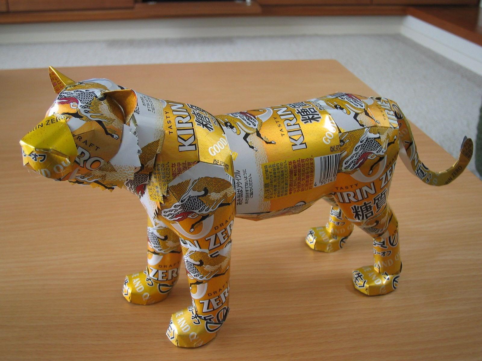 Latas recicladas, cómo hacer esculturas - Animales 21