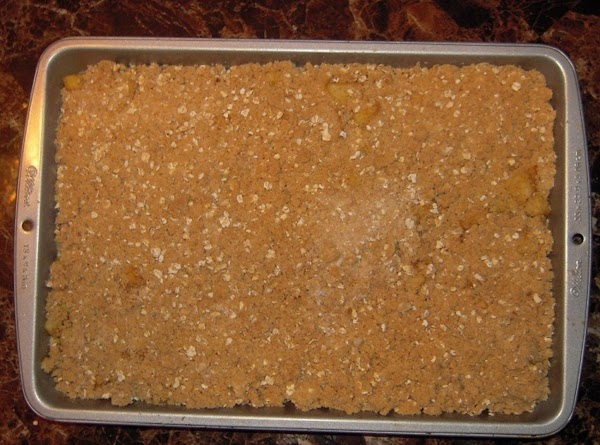 Sprinkle evenly with Streusel topping. Bake 30-45 minutes, or until filling is set.