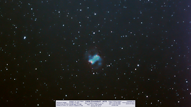 Photo: More Planetary Nebula goodness! For sure I will not be using ISO6400 anymore. The noise is horrendous. Also I have fixed the shadow of the OAG prism falling on the DSLR chip, which added tons of edge artifacts. Day8 I'm finding most of these images are laying around for good reason. I'm not super proud of most of them. Mostly all a big learning curve, thanks for hanging in there with me!