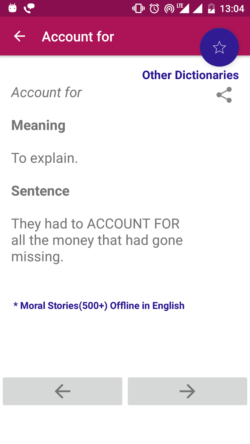 Phrasal Verbs Dictionary Offline Screenshot 6