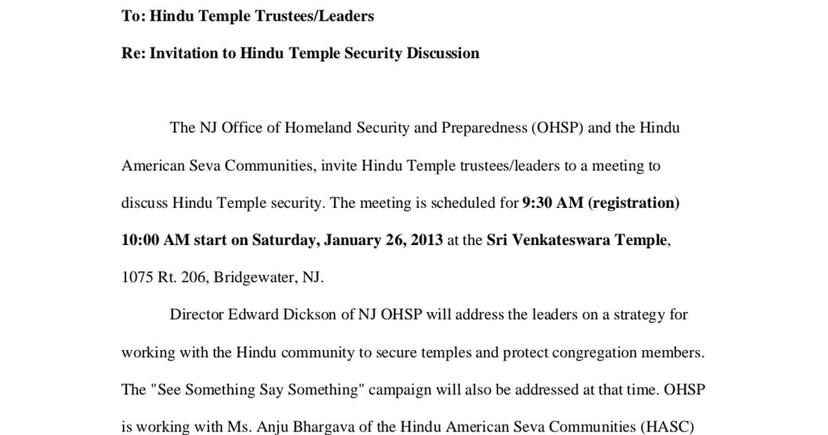 Ltr- Hindu Temple Security Discussion pdf - Google Drive