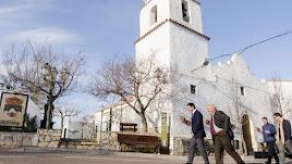 Visita del presidente de la Diputación Provincial al alcalde del municipio.