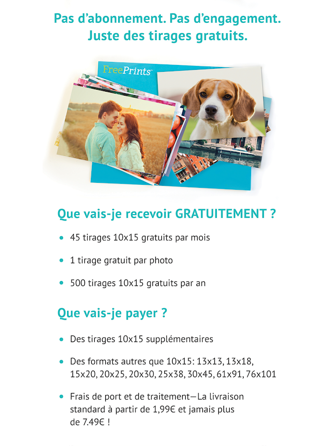 Free Prints - Photos Gratuites- screenshot