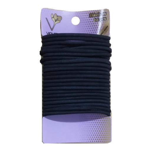 elasticos violet negros x24und
