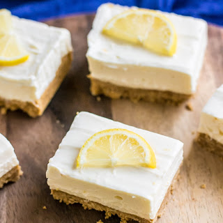 No Bake Creamy Lemon Cheesecake Bars.