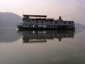 Photo: The Assam Bengal Cruise boat Cheridew on the Brahmaputra - a most mighty river