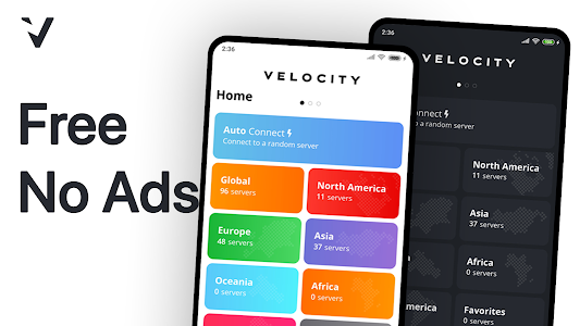 Velocity VPN - Unlimited for free! 0.2.4