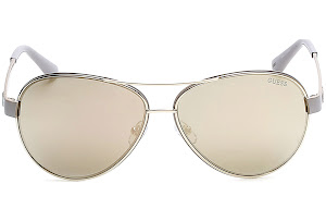 Guess GU7443 C60 57C (shiny beige / smoke mirror) Sonnenbrillen GAsB9WNCd