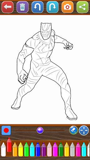 Coloring Avengers Heroes 1.0 screenshots 3