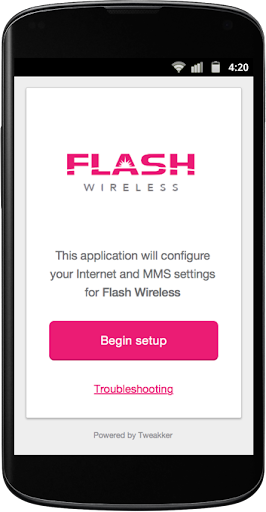Flash Wireless Internet Setup