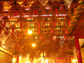 Photo: Incense of the Man Mo Temple