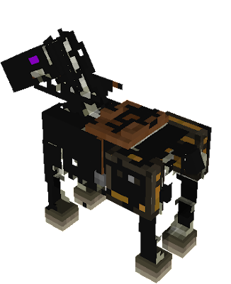the mighty steed of wither skeletons