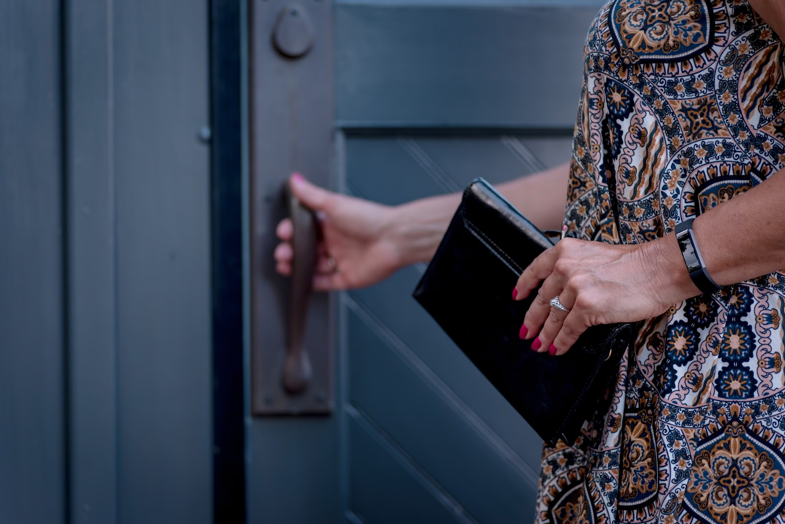 staff onboarding for MSPs, a woman entering through a door