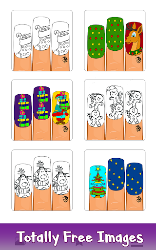 Christmas Nails Color by Number - Girls Coloring 1.1 screenshots 1