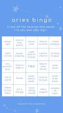 Aries Bingo - Instagram Bingo  item