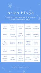 Aries Bingo - Facebook Story item