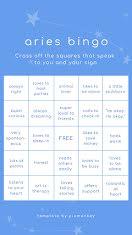Aries Bingo - Facebook Story item