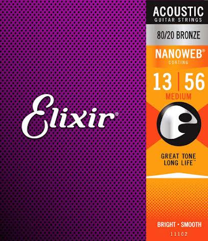 Elixir Acoustic 80/20 Bronze NANOWEB | 013-056