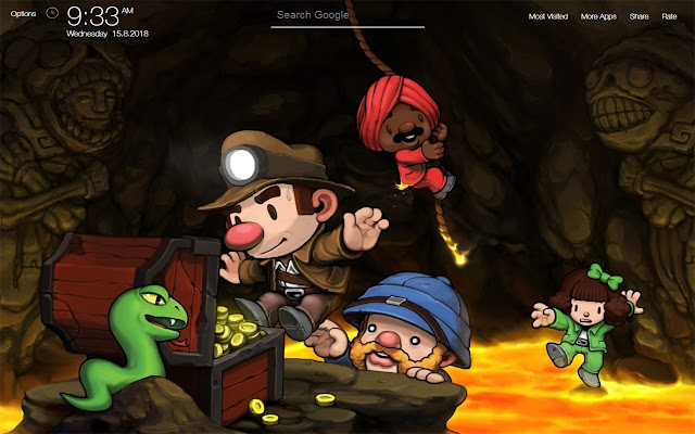 Spelunky Game Wallpapers FullHD New Tab
