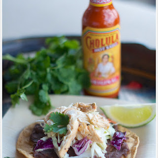 Baja Chicken Tostadas.