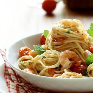 Shrimp and Cherry Tomato Spaghetti