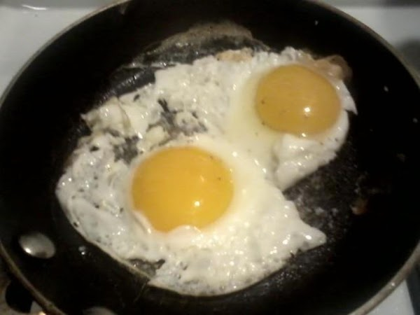 Next fry your eggs to Your liking. I keep my yolk slightly runny.  Time to...
