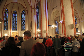 Photo: Evensong was sung in English at St. Jacob's Church....