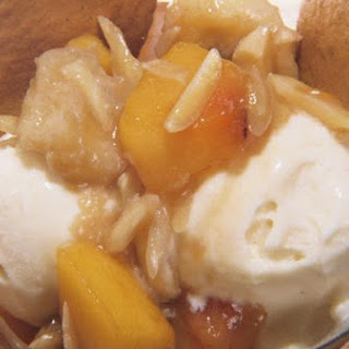 Peach Papaya Rum Ice Cream Topping.